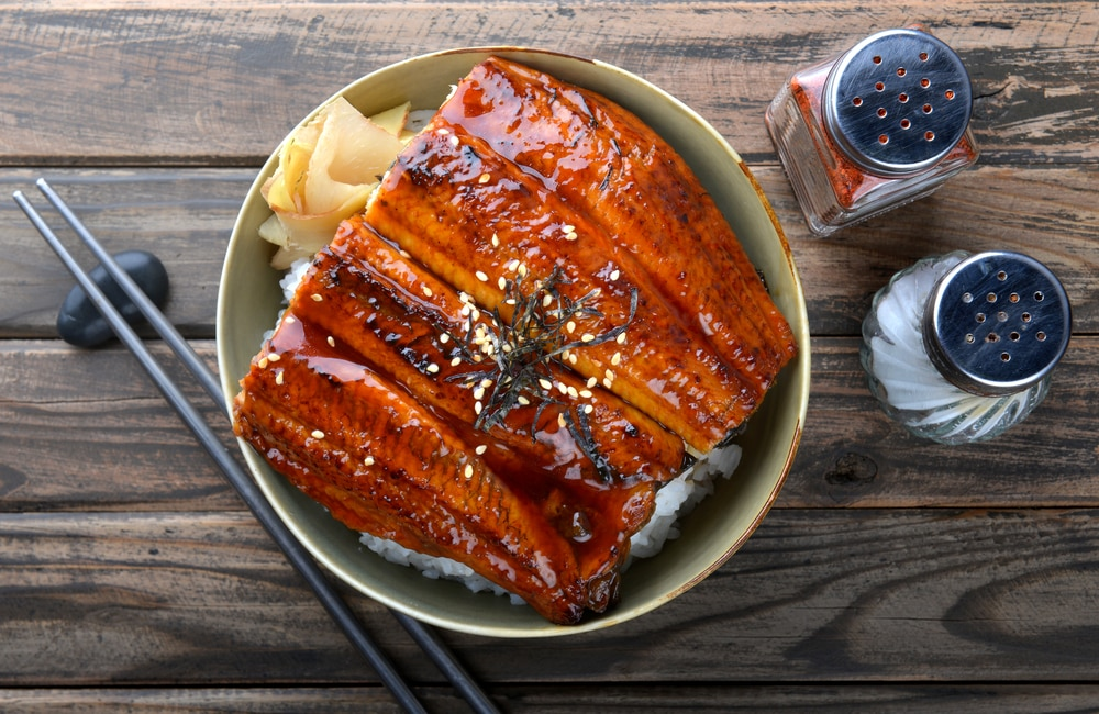 Japanese eel grilled with rice,อาหารแนะนำที่ญี่ปุ่น
