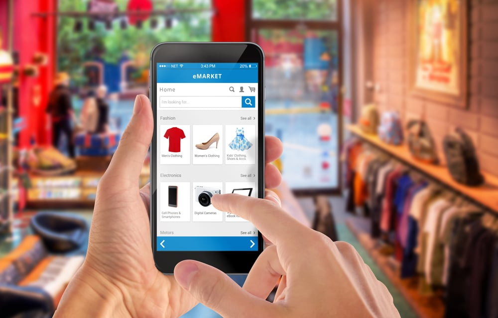 Smart phone online shopping,E-commerce คือ